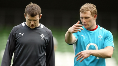 Keith Earls and Gordon D'Arcy