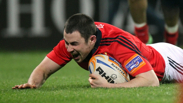 Felix Jones will start for Munster against Benetton Treviso