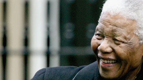 Nelson Mandela has been in hospital since Wednesday last