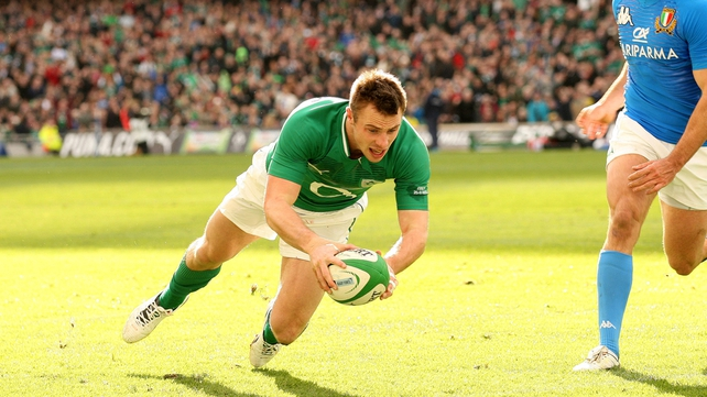 Bowe's try came after Ireland declined a kick at goal