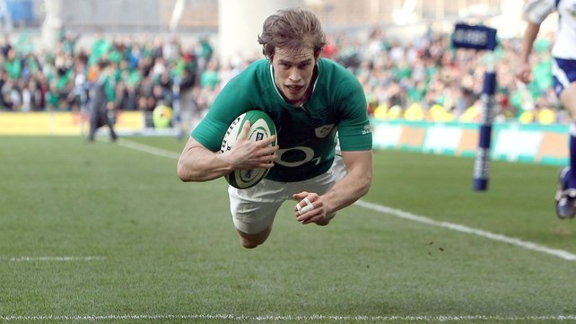 Andrew Trimble puts the finishing touches on Ireland's 32-point win