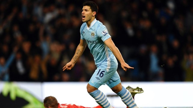 Sergio Aguero grabbed City's equaliser at the Etihad Stadium