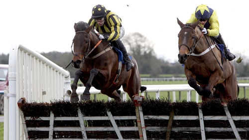 Minsk (right) looks set for a run in the Slaney Hurdle at Naas