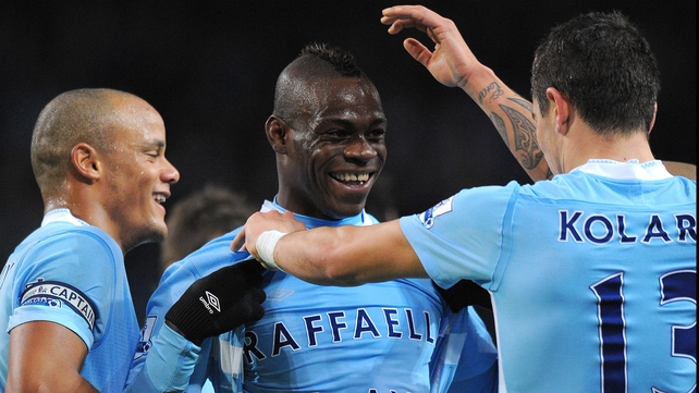 All apparently is now calm in the relationship between Mario Balotelli and his manager