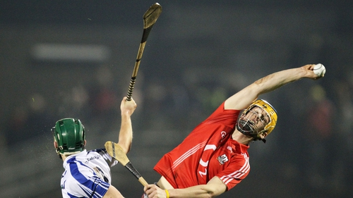 Cork 3-17 Waterford 0-18 - Darren Sweetnam of Cork plucks one from the sky at Páirc Ui Rinn