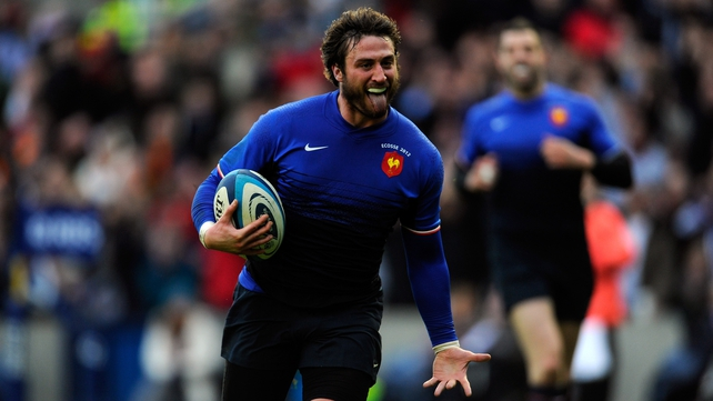 Maxime Medard finished off a flowing move for France's second try