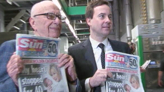 Lachlan Murdoch on hand for launch of new Sun on Sunday
