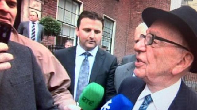 Rupert Murdoch on Dublin trip (Pic: Michael Cassidy)