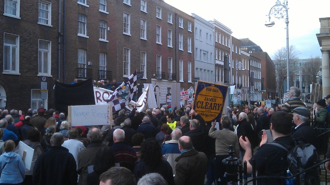Up to 700 people gathered to protest in Dublin City Centre