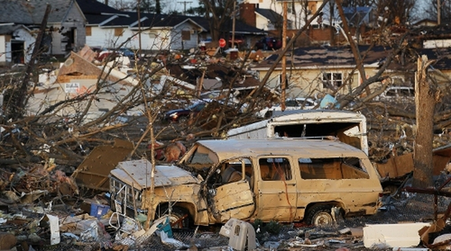 Harrisburg, Illinois was badly hit by the storms