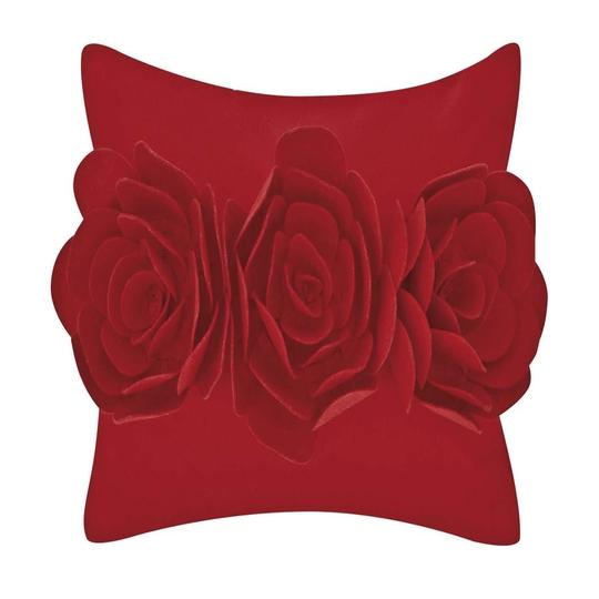 Red flower cushion, €18, Next
