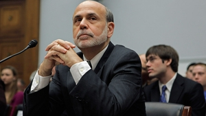 Ben Bernanke said the US economy was showing signs of recovery