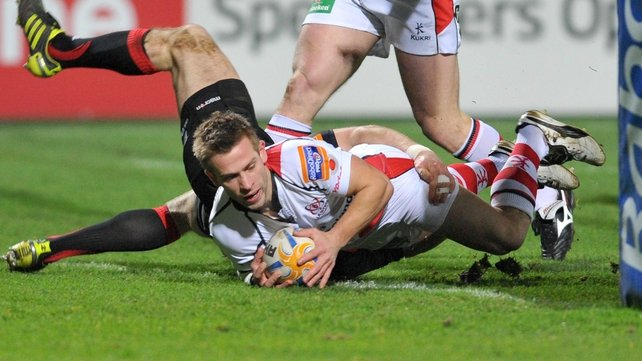 Paul Marshall crosses the whitewash for Ulster