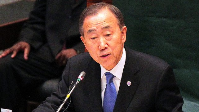 UN Secretary-General Ban Ki-Moon said the humanitarian situation in Syria is getting worse