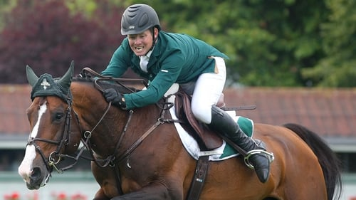 Shane Sweetnam won the Puissance at the five-star show in Rome