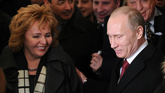 Vladimir and Lyudmila Putin at a polling station in Moscow this morning