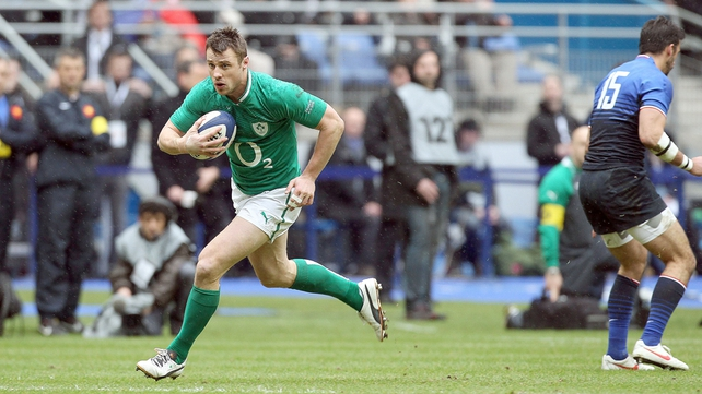Ireland had started well without scoring until Bowe picked off Rougerie's pass