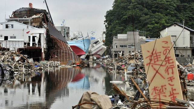 The disaster zone in Kesennuma, Miyagi prefecture 100 days after the 9.0-magnitude earthquake and tsunami