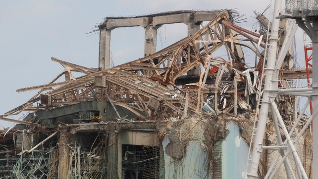 The destroyed no. 3 reactor building of Fukushima Daiichi nuclear power plant