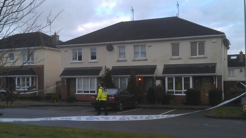 A number of houses in the estate have been sealed off following the shooting - (Pic: Sinead Morris)
