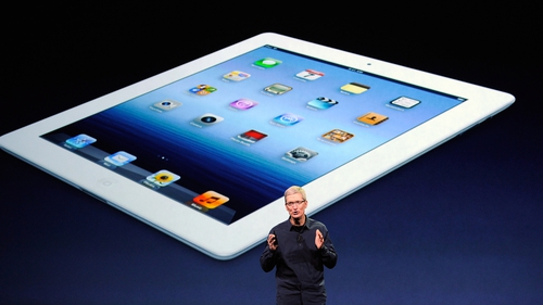 Quarterly sales of Apple's iPad double