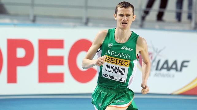 Ciaran O'Lionaird ran well below his best