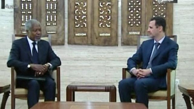 Kofi Annan met Bashar al-Assad in Syria last month