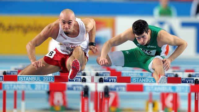 Ben Reynolds is into the 60m hurdles semi-finals in Istanbul