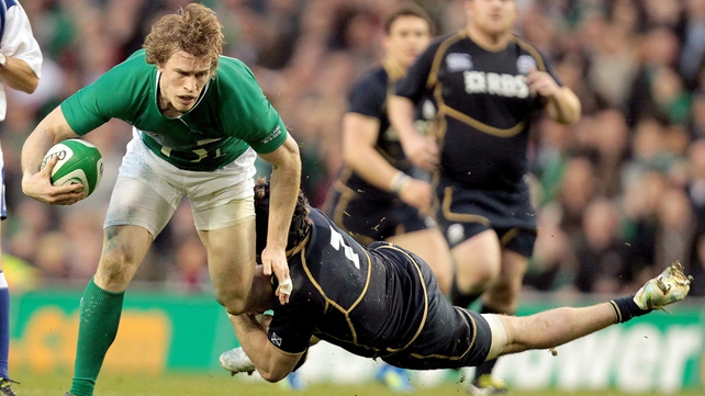 Andrew Trimble's superb finish helped Ireland to a four-try victory