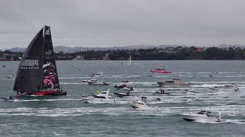 The Puma boat sails into Auckland