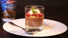 Chocolate Orange Pot, Raspberries and Fresh Cream