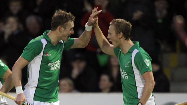 David Ames (left) put Ireland in front