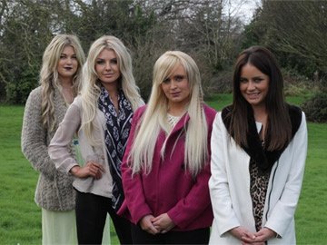Sophia McAndrew, Rachel Wallace, Aisling Shelvin and Jodie Wood