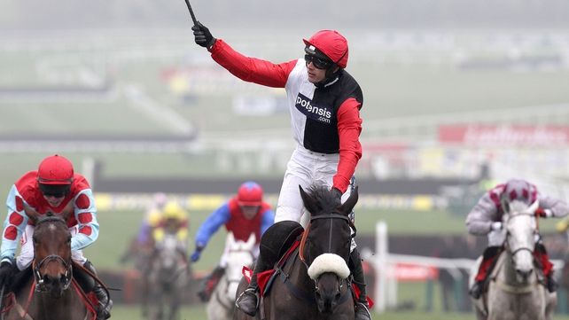 Big Buck' and Ruby Walsh celebrate another Cheltenham Festival success last March