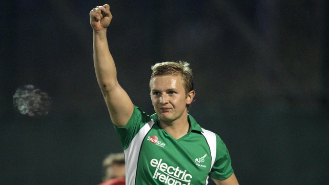 Michael Watt scored a brace for Ireland in Belfield