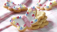 Almond Butterfly cookies - Get the little ones involved to help make and bake these cute little cookies for mum on her special day