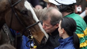 Synchronised is amongst the remaining 48 entries for Saturday's Aintree Grand National