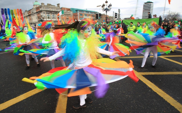 Half a million people attended the parade in Dublin