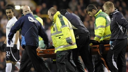 Fabrice Muamba was carried from the pitch at White Hart Lane