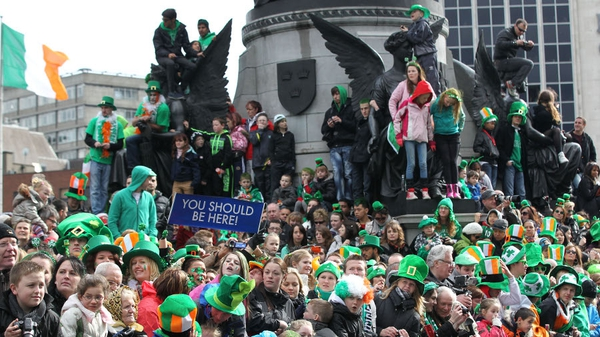 Thousands gathered around O'Connell Street for the celebrations