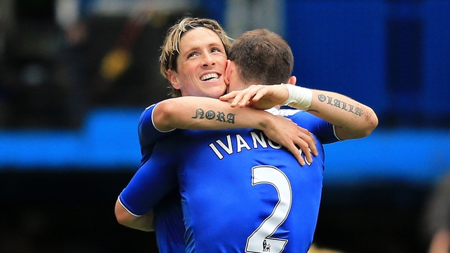 Man of the Match Fernando Torres scored twice against Leicester