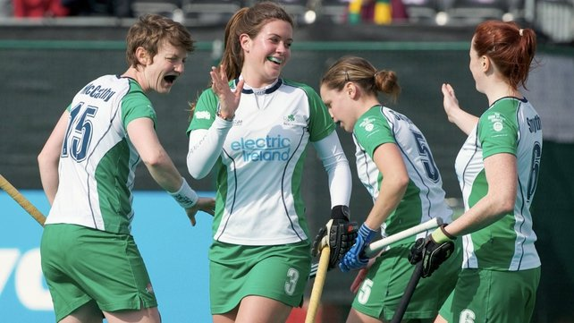 Michelle Harvey celebrated her birthday with a goal for Ireland in the Road to London tournament