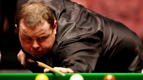 Stephen Lee was in action against John Higgins in the Premier League on Thursday night