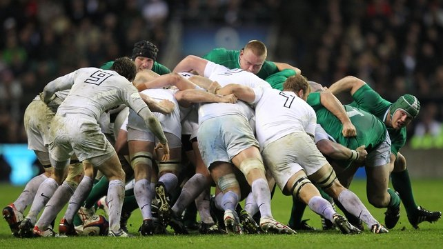Ireland were dominated in the scrum by England