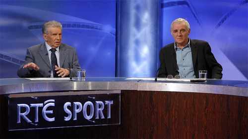 John Giles (L) will leave the RTÉ panel after Euro 2016 in France