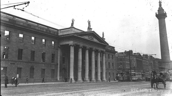 The General Post Office after the Easter Rising 1916 © RTÉ Stills Library 0510-060  id: 0005B239