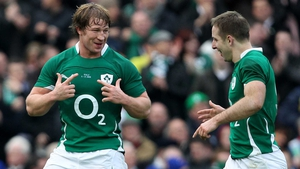 Jerry Flannery (left) announced his decision to retire at training in University of Limerick this morning, while Tomás O'Leary will leave for London Irish in May