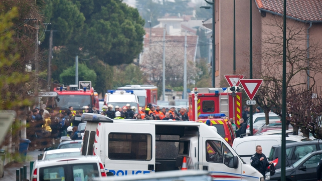 Police have launched a massive operation in Toulouse