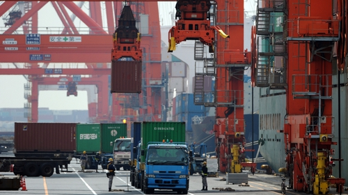 The Japanese economy grew by 0.3% in the fourth quarter - well below forecasts