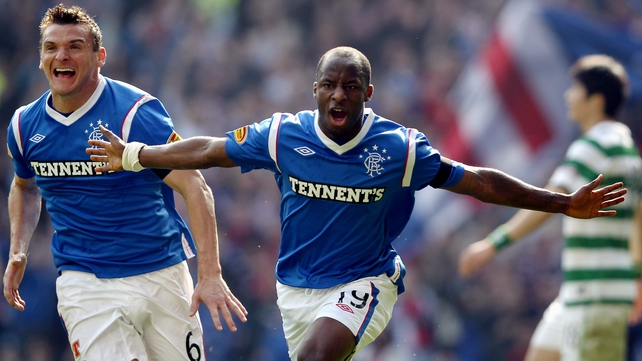 Sone Aluko celebrates after scoring his 11th-minute opener